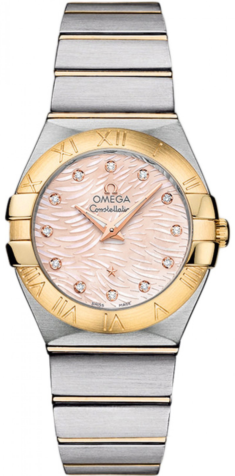 Fake Omega Constellation Brushed 27mm Quartz 123.20.27.60.57.005