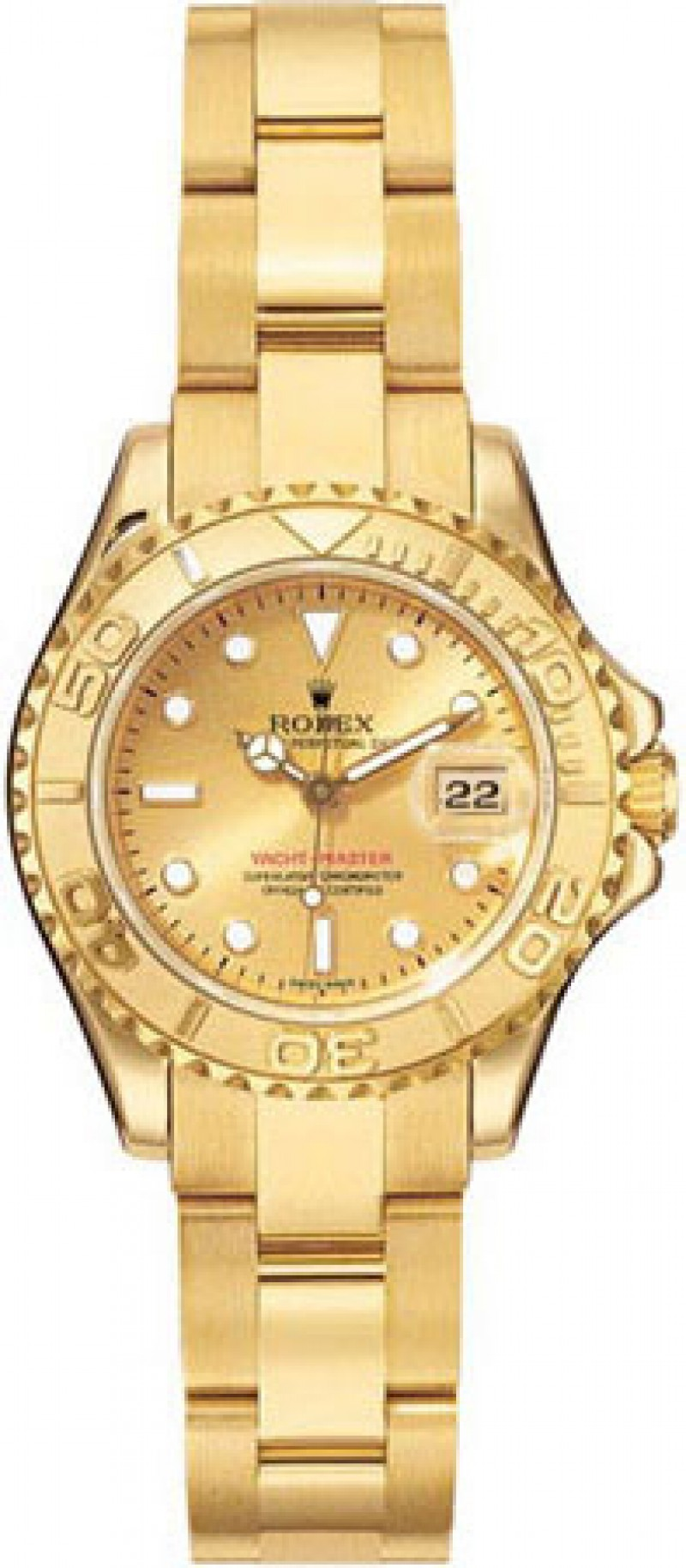 Fake Rolex Yachtmaster Champagne Dial Ladies Watch 169628CSO