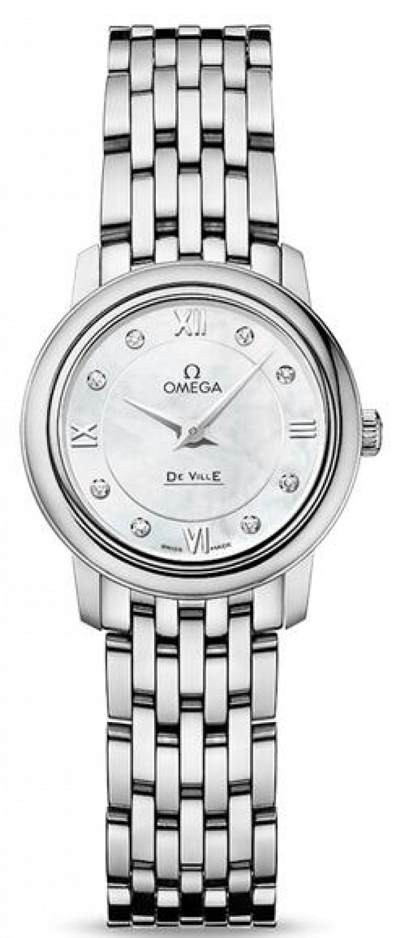 Fake Omega De Ville Prestige Quartz 24.4mm Ladies 424.10.24.60.55.001
