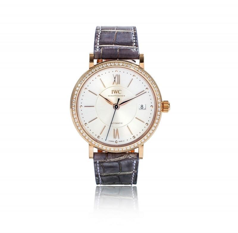 Fake IWC Portofino Silver Dial Diamond Automatic Mens Watch IW458107