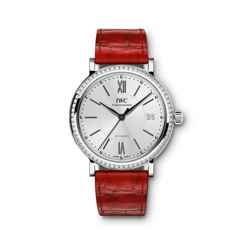 Fake IWC Portofino Silver Dial Diamond Automatic Mens Watch IW458109
