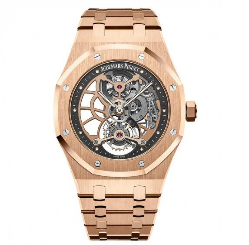 Replica Audemars Piguet Royal Oak Tourbillon Extra-Thin Openworked Watch 26518OR.OO.1220OR.01