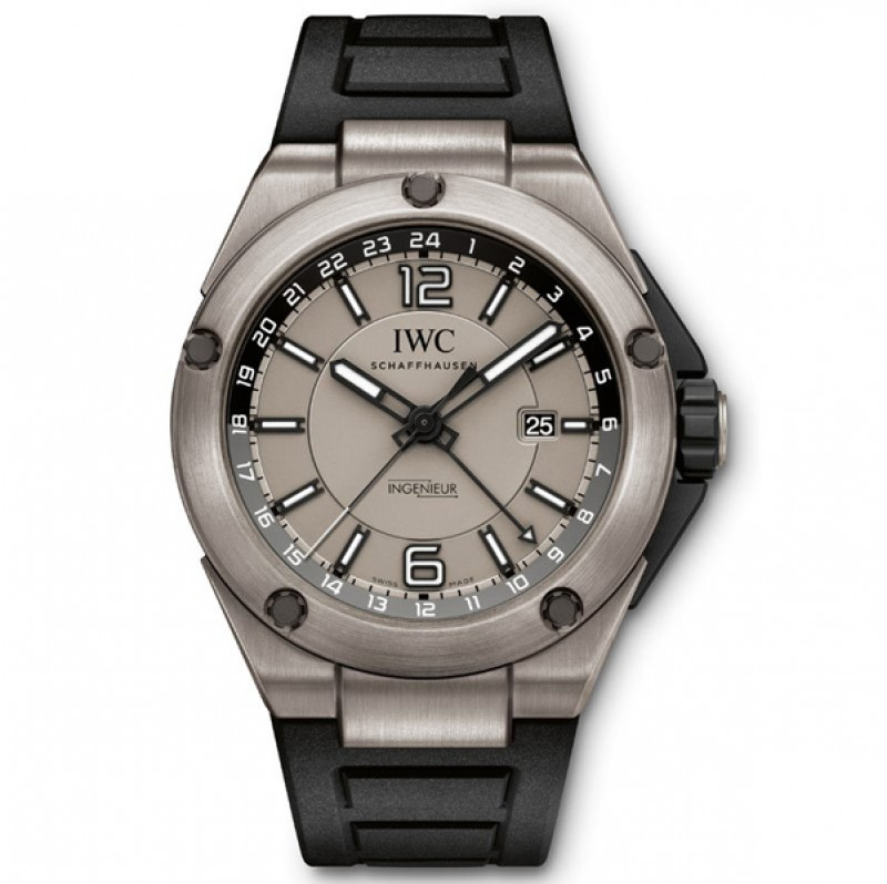 Fake IWC Ingenieur Dual Time Automatic Titanium Mens Watch IW326403