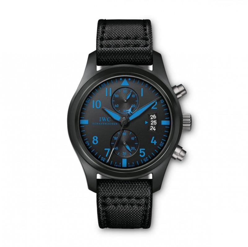 Fake IWC Pilot's Blue Chronograph Top Gun Boutique Edition Mens Watch IW388003