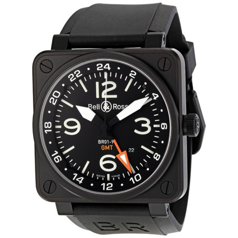 Replica Bell & Ross Aviation GMT Automatic 46MM Mens Watch BR-01-93-GMT