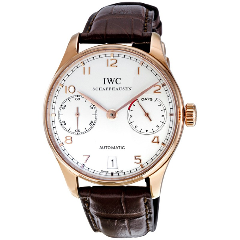Fake IWC Portuguese Silver Dial Automatic Mens Watch IW500113