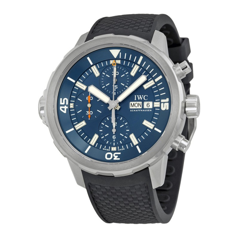 Fake IWC Aquatimer Chronograph Blue Dial Mens Watch IW376805