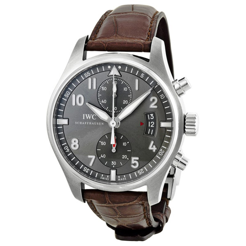 Fake IWC Spitfire Slate Grey Dial Mens Watch IW387802