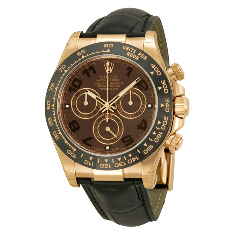Fake Rolex Daytona Chocolate Automatic Mens Watch 116515CHOAL