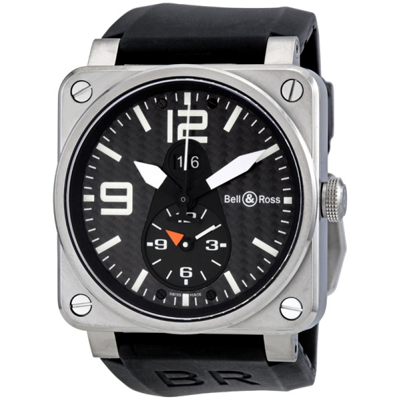 Replica Bell & Ross Aviation GMT Carbon Mens Watch BR0351-GMT
