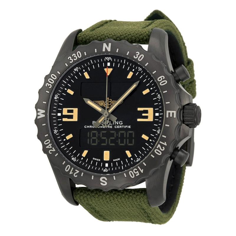 Fake Breitling Chronospace Military Black Carbon-based Mens Watch M7836622-BD39GCVT