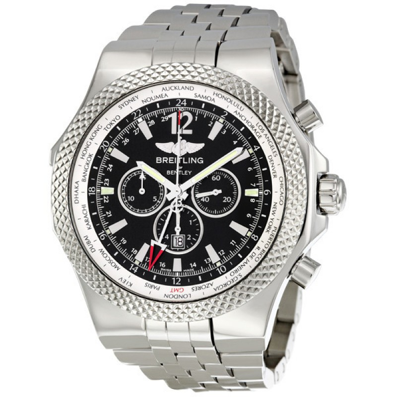 Fake Breitling Bentley GMT chronograph Automatic Mens Watch A4736212-B919S