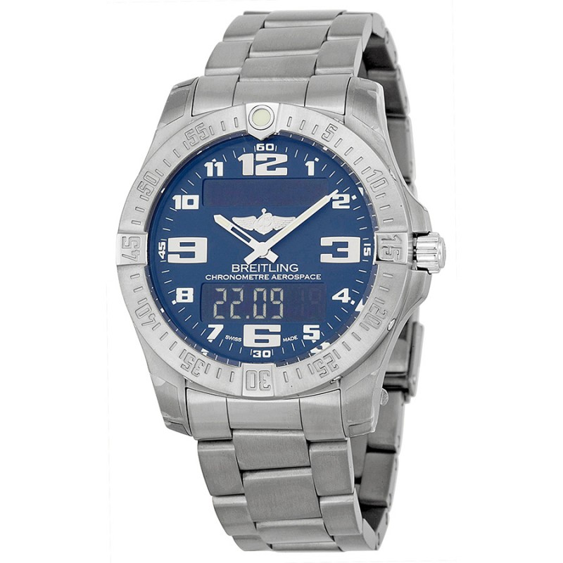 Fake Breitling Aerospace Evo Blue Dial Mens Watch E7936310-C869TI