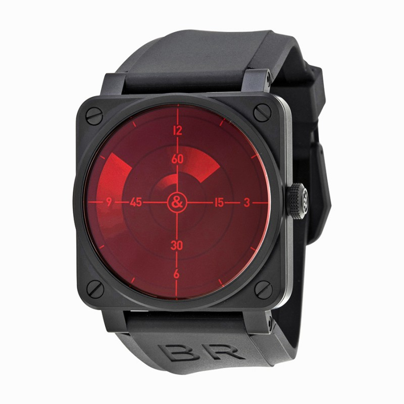 Replica Bell & Ross Red Radar Automatic Mens Watch BR03-92-RED RADAR
