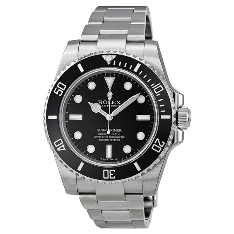 Fake Rolex Submariner Black Dial Automatic Mens Watch 114060