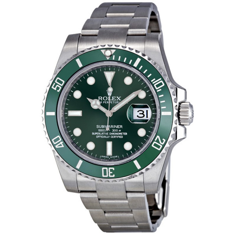 Fake Rolex Submariner Green Dial Steel Mens Watch 116610LV