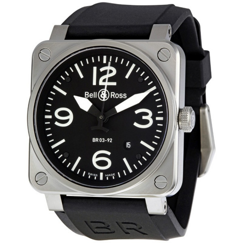Replica Bell & Ross Aviation Automatic 42 MM Mens Watch BR-03-92-STEEL