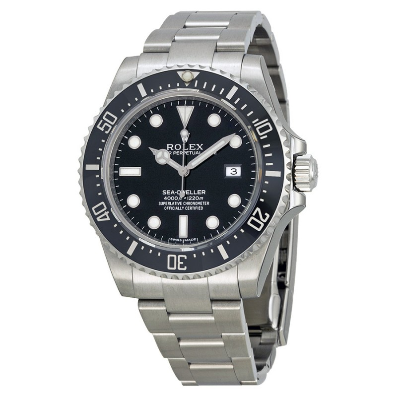 Fake Rolex Sea Dweller Black Dial Mens Watch 116600BKSO