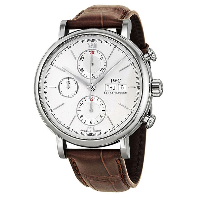 Fake IWC Portofino Silver Dial Chronograph Mens Watch IW391007