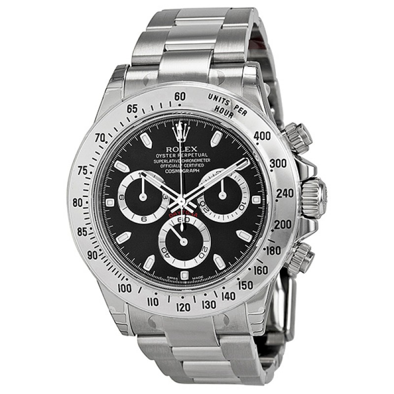 Fake Rolex Daytona Black Index Dial Mens Watch 116520BKSO
