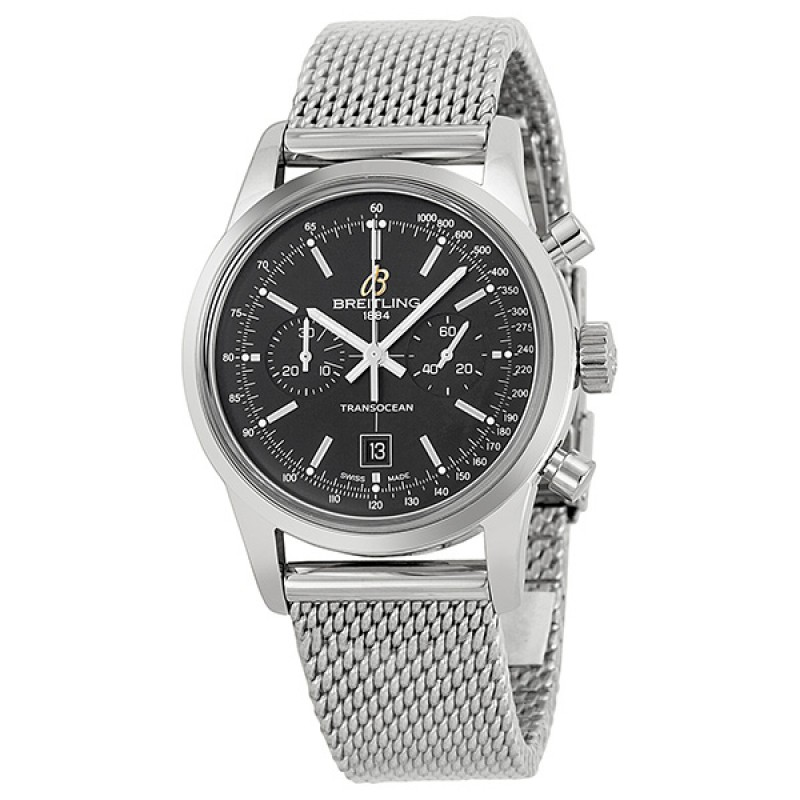 Fake Breitling Transocean 38 Chronograph Watch A4131012-BC06SS