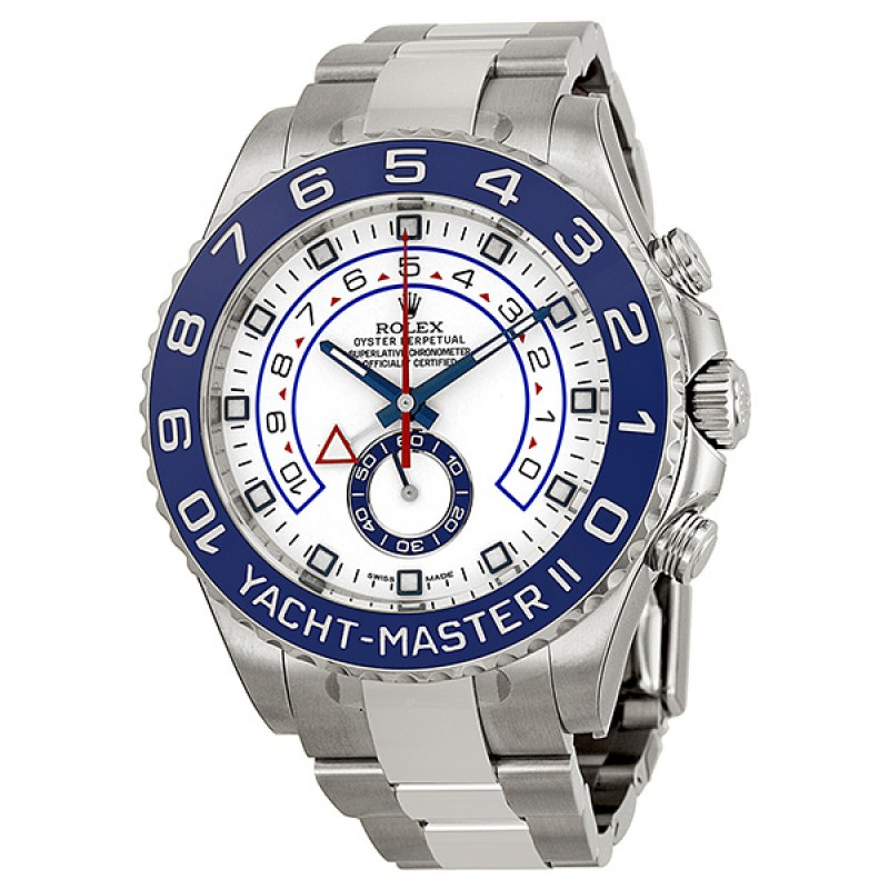 Fake Rolex Yachtmaster II White Dial Automatic Mens Watch 116680WAO