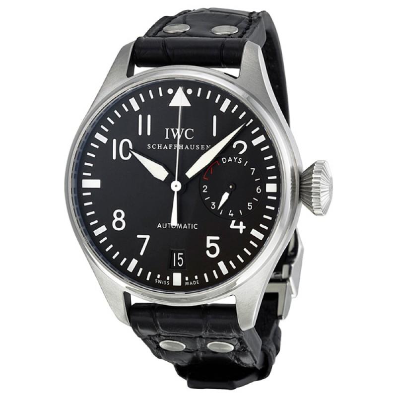 Fake IWC Big Pilot's Black Dial Mens Watch IW500901