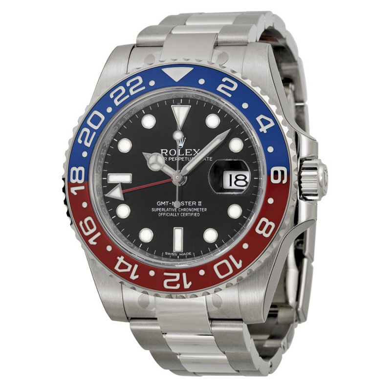 Fake Rolex GMT Master II Black Dial Mens Watch 116719BKSO
