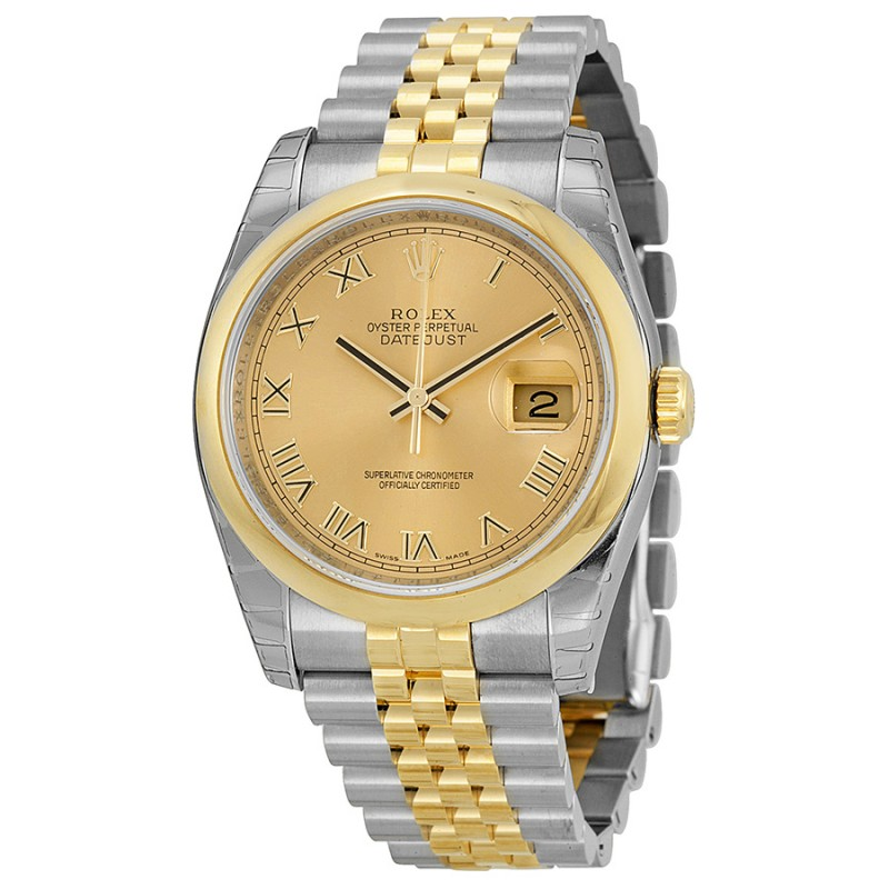 Fake Rolex Datejust Automatic Champagne Dial Mens Watch 116203CRJ