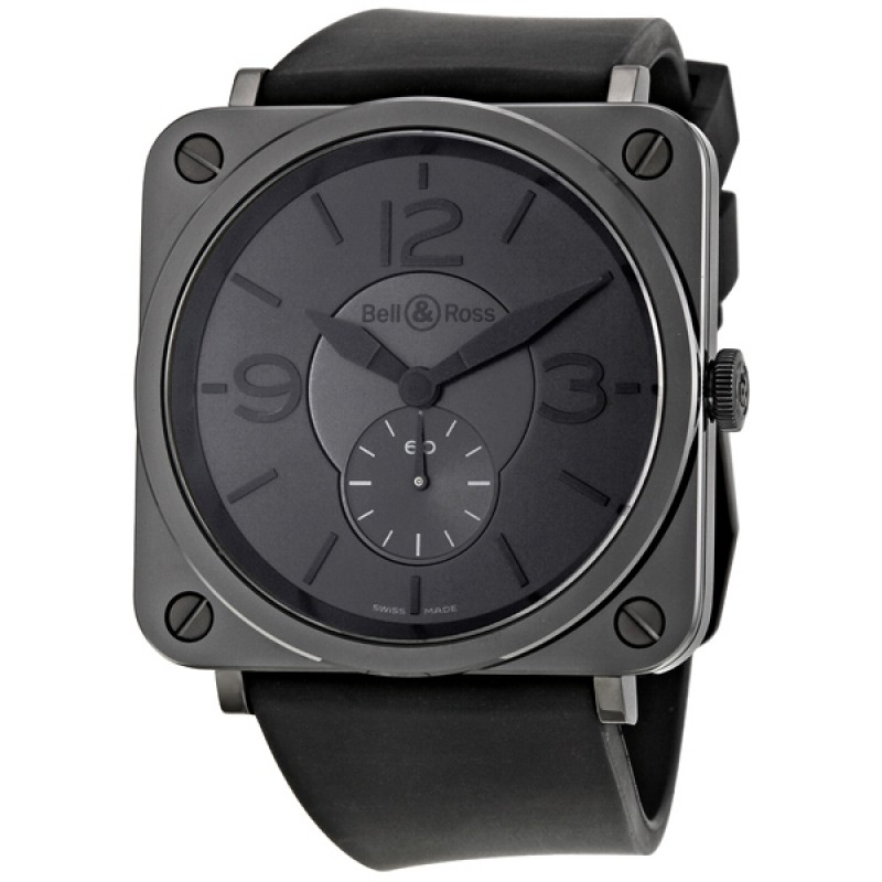 Replica Bell & Ross Phantom Black Dial Ceramic Mens Watch BRS-BLC-PH/SBR