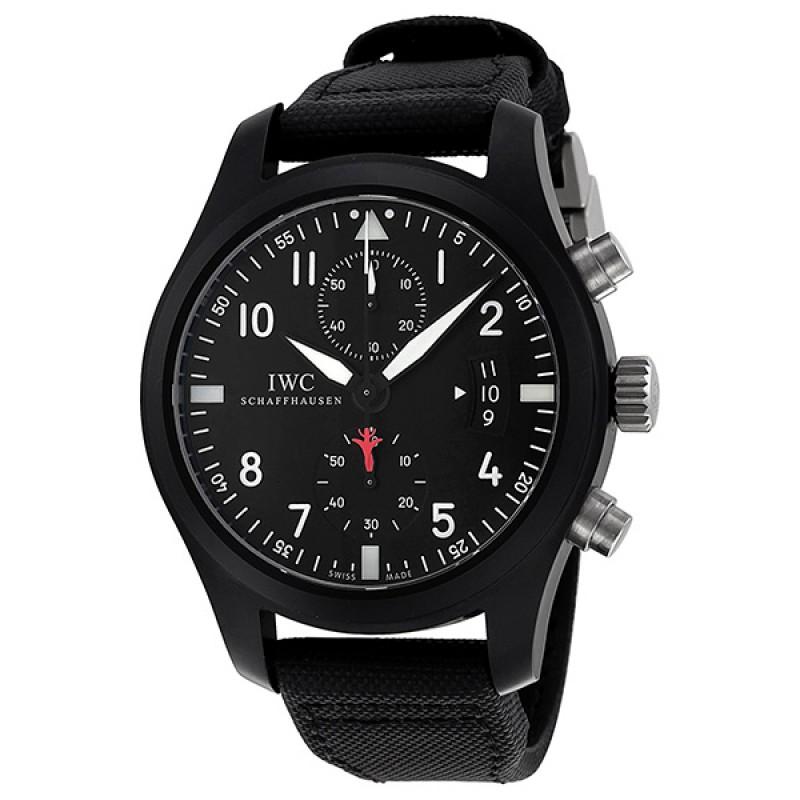 Fake IWC Pilot's Top Gun Edition Black Dial Automatic Mens Watch IW388001