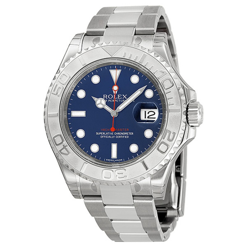 Fake Rolex Yachtmaster Blue Dial Mens Watch 116622BLSO