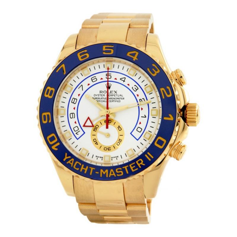 Fake Rolex Yachtmaster II White Arabic Dial Mens Watch 116688WAO