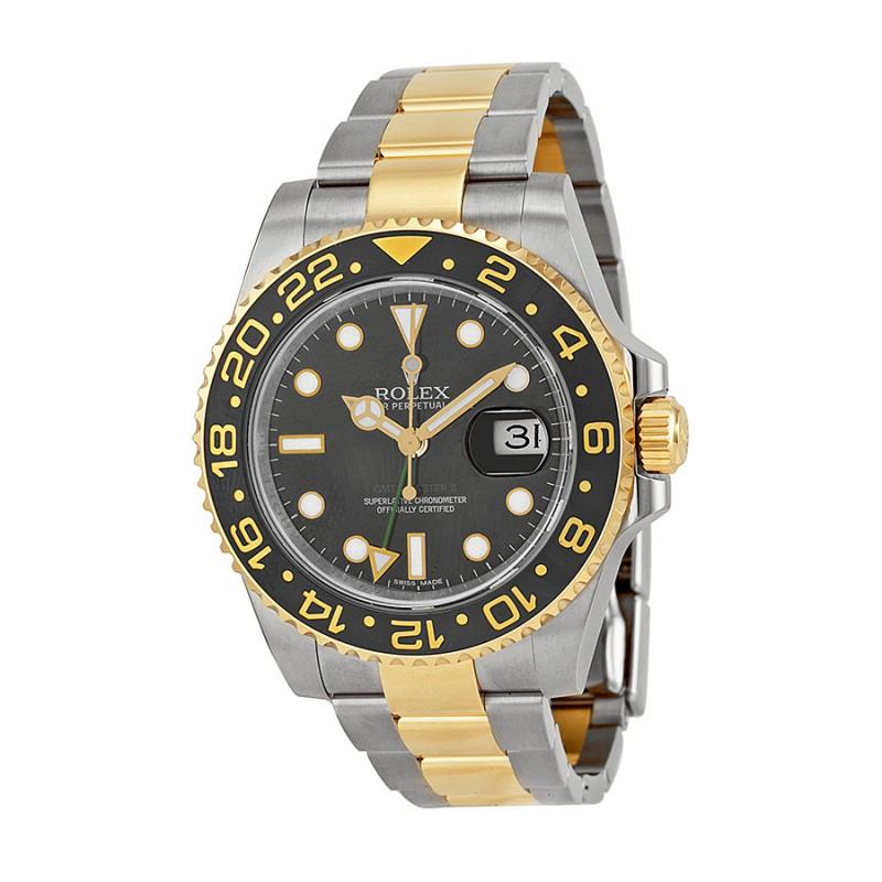 Fake Rolex GMT-Master II Black AutomaticMens Watch116713BKSO