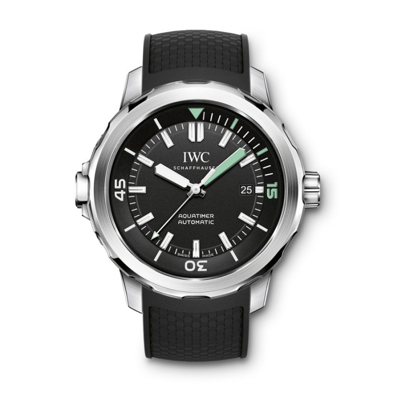 Fake IWC Aquatimer Black Dial Mens Watch IW329001