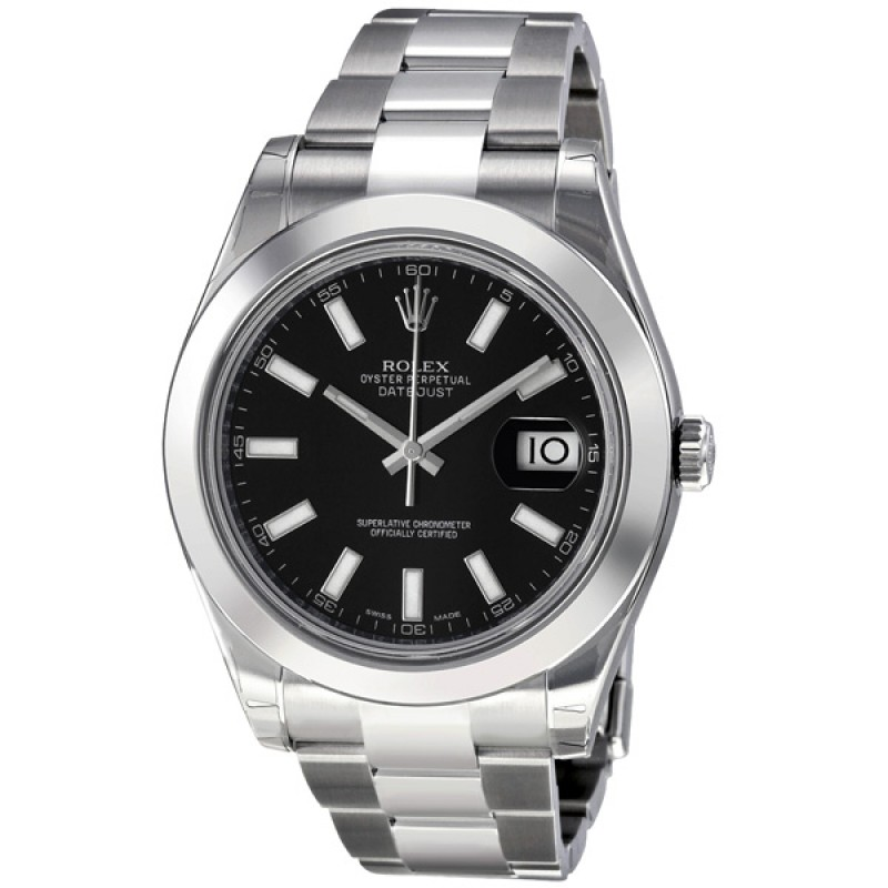 Fake Rolex Datejust II Black Dial Automatic Mens Watch 116300BKSO