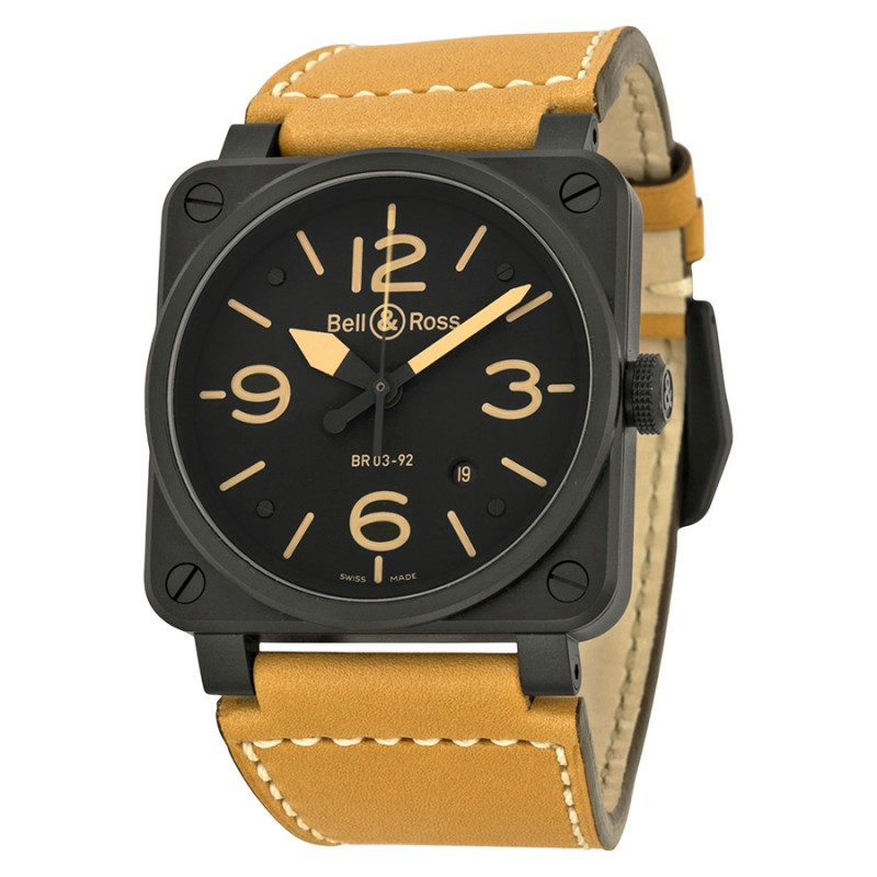 Replica Bell & Ross Instrument Heritage Automatic 42MM Mens Watch BR-03-92-HERITAGE