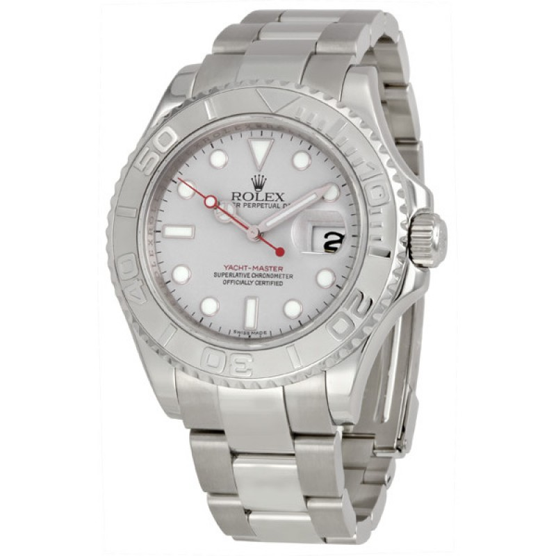 Fake Rolex Yachtmaster Grey Index Dial Mens Watch 16622GYSO