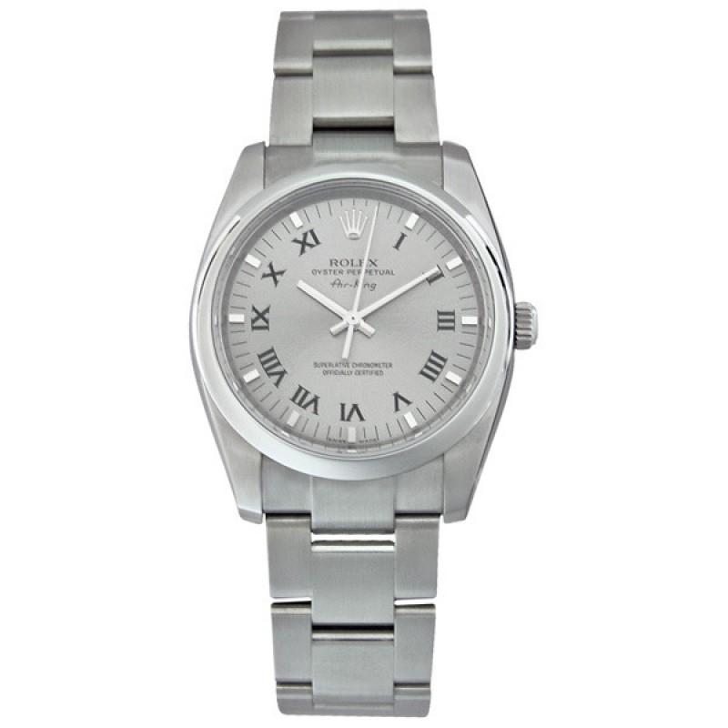 Fake Rolex Air king Grey Dial Mens Watch 114200GYRO