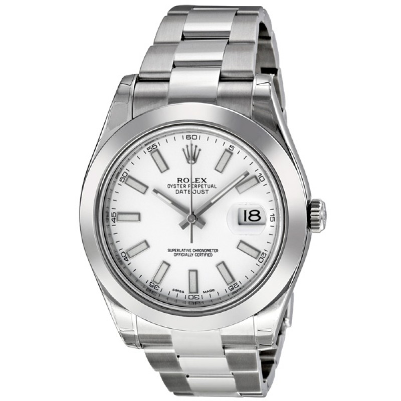 Fake Rolex Datejust II White Dial Automatic Mens Watch 116300WSO