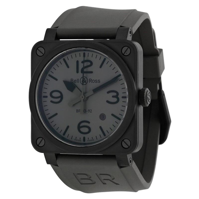 Replica Bell & Ross Commando Grey Dial Mens Watch R0392-COMMANDOCE