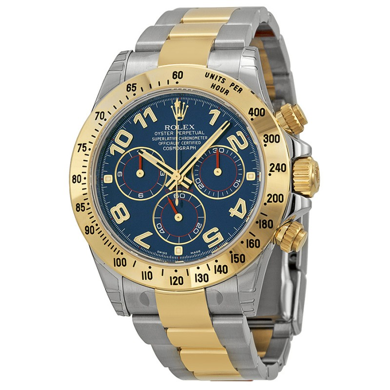 Fake Rolex Daytona Blue Chronograph Mens Watch 116523BLAO