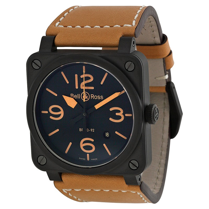 Replica Bell & Ross Heritage Ceramic Mens Watch BR0392-CERAM-HER