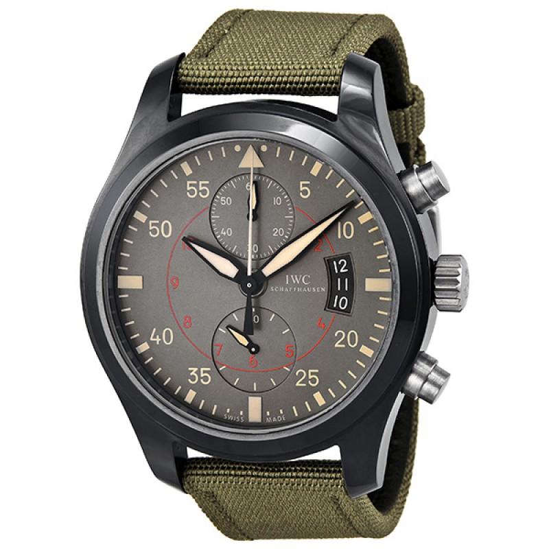 Fake IWC Pilot's Anthracite Dial Chronograph Ceramic and Titanium Mens Watch IW388002