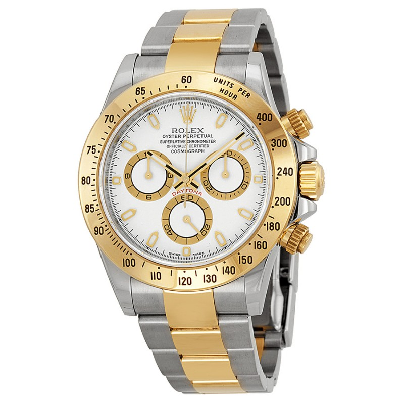 Fake Rolex Daytona White Index Dial Mens Watch 116523WSO