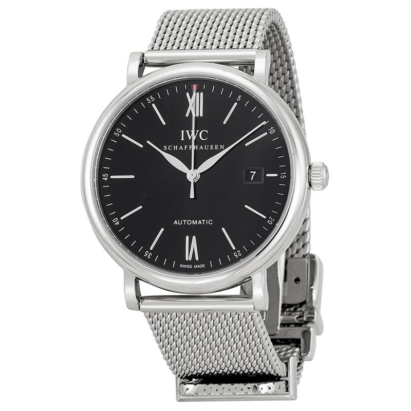 Fake IWC Portofino Black Dial Mens Watch IW356506