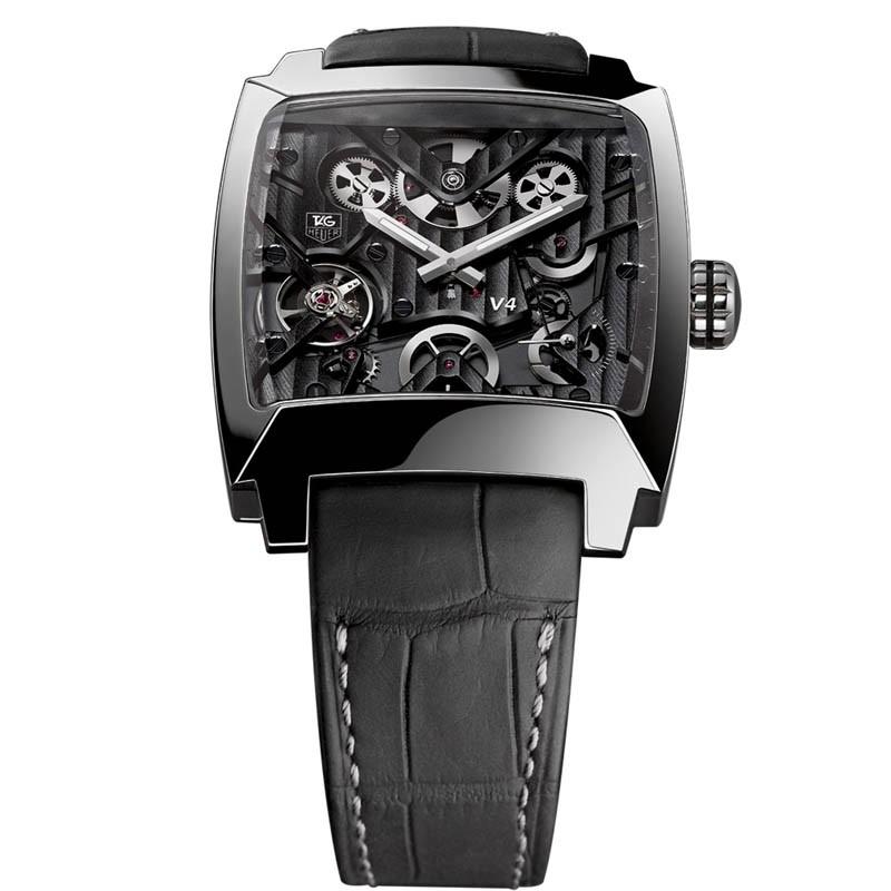 Fake TAG Heuer Monaco V4 Titanium Tourbillon watch WAW2080.FC6288