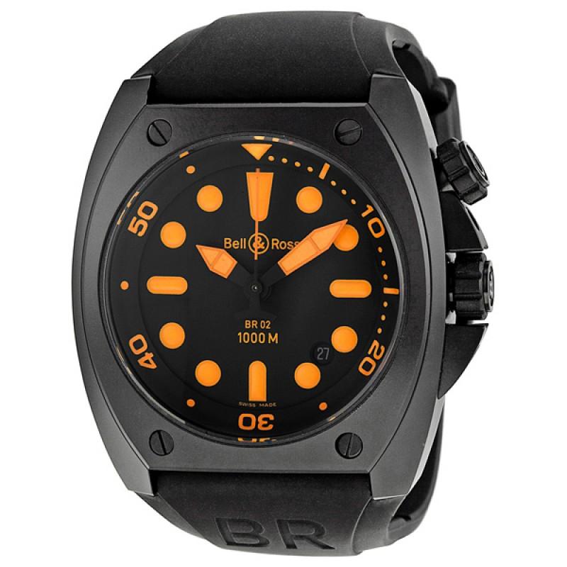 Replica Bell & Ross Marine Black Dial Mens Watch BR0292-ORANGE