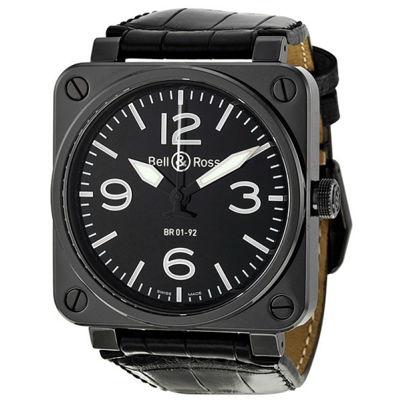 Replica Bell & Ross Aviation Automatic Mens Watch BR0192-BL-CER-SCR
