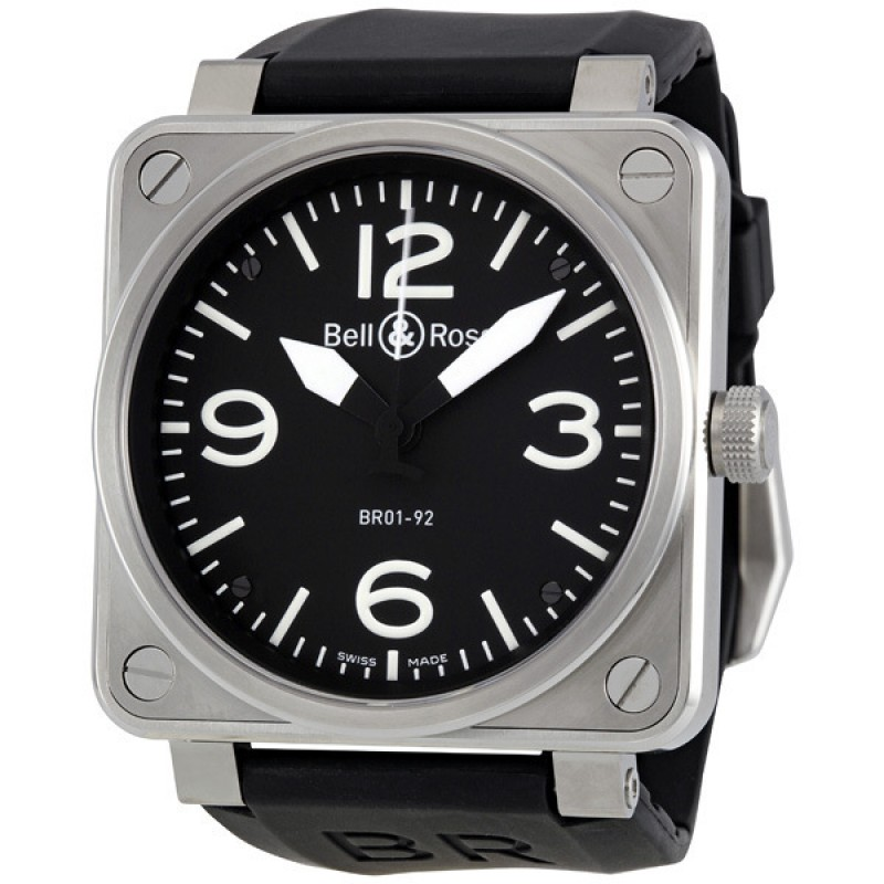 Replica Bell & Ross Aviation Automatic 46 MM Mens Watch BR01-92-STEEL